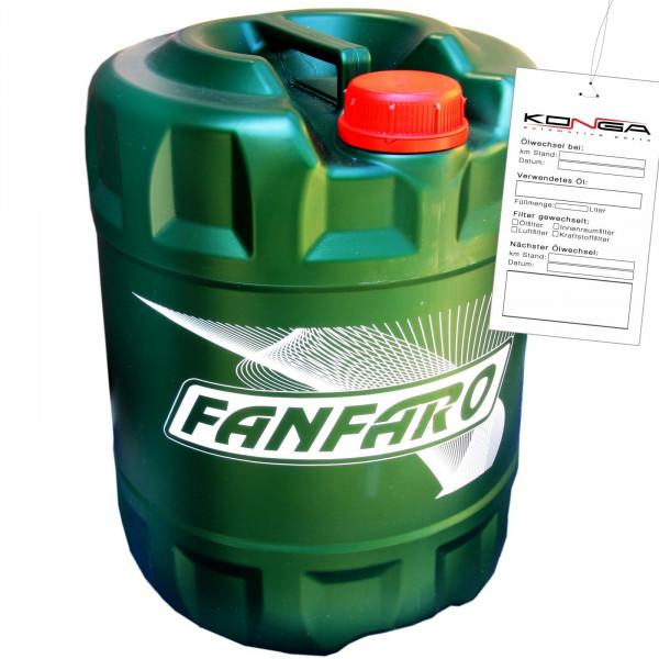 10 Liter FANFARO TRD E4 UHPD 10W-40 API CI-4 SL NKW Motoröl E4 E7 228.5 3277