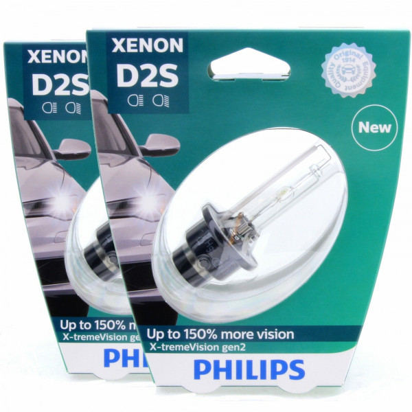 2x D2S PHILIPS X-tremeVision gen2 85122XV2S1 Xenon-Brenner Set 2 Stück