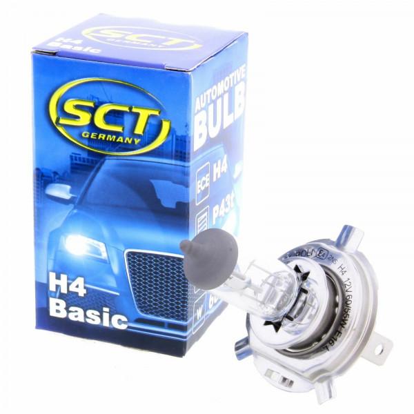 SCT H4 Basic Halogenlampe Leuchte 12V 60/55W Glühlampe Scheinwerferlampe