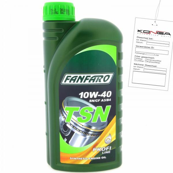 1 Liter FANFARO TSN 10W-40 SN SM CF A3 B4Motoröl MB 229.1 VW 502.00 505.00