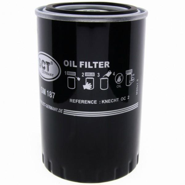SCT Ölfilter SM187 Filter Motorfilter Servicefilter Anschraubfilter Dichtung