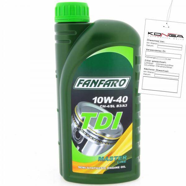 1 Liter FANFARO TDI 10W-40 CH-4/SL Motoröl B3 A3 VW 505.00 501.01