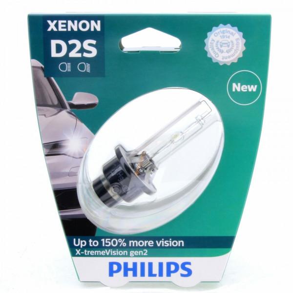D2S PHILIPS X-tremeVision gen2 85122XV2S1 150% more Vision Xenon-Brenner 1 Stück