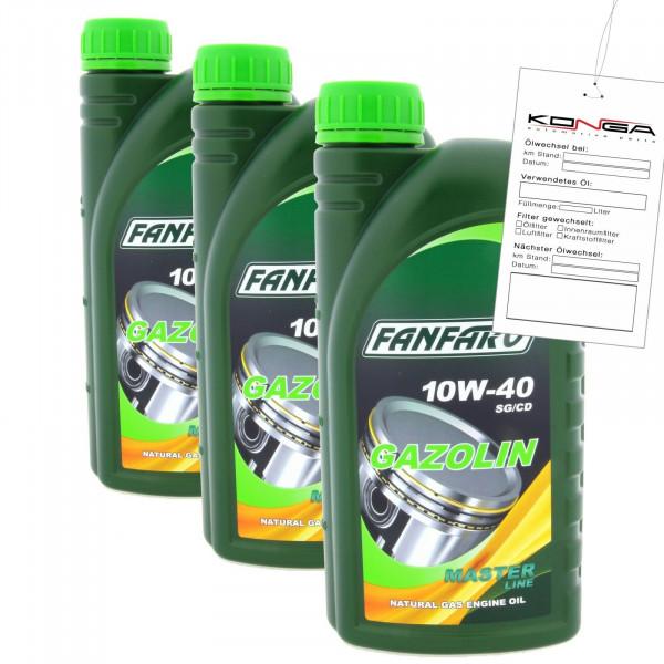 3 Liter FANFARO GAZOLIN 10W-40 API SG CD Motoröl LPG CNG Motorenöl Schmierung