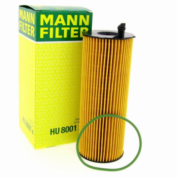 MANN Ölfilter Fahrzeugfilter Ersatzfilter HU8001X Filter Audi Porsche VW