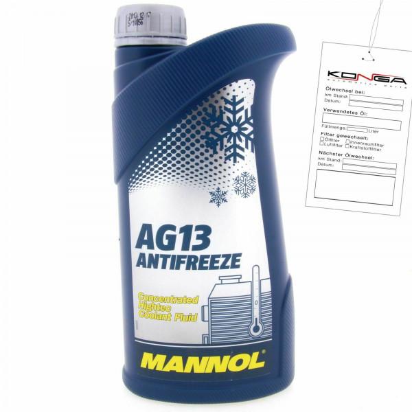 1 Liter MANNOL hightech Antifreeze AG13 Frostschutz Konzentrat grün -40°C
