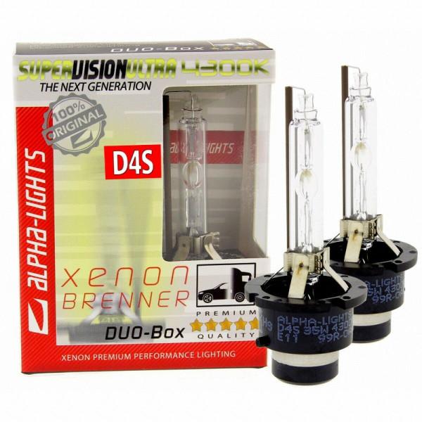 ALPHA-Lights SUPER VISION ULTRA D4S 4300K Xenon Brenner 35W - 2 Lampen DUO-Set