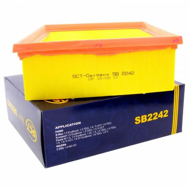 SCT Luftfilter Fahrzeugfilter SB2242 Motorfilter Servicefilter Ersatzfilter